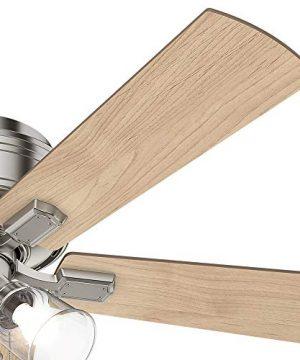 Hunter Fan Company 54209 Hunter 52 Crestfield Brushed Nickel LED Light Ceiling Fan 0 3 300x360