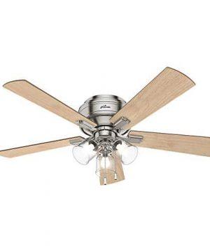 Hunter Fan Company 54209 Hunter 52 Crestfield Brushed Nickel LED Light Ceiling Fan 0 300x360