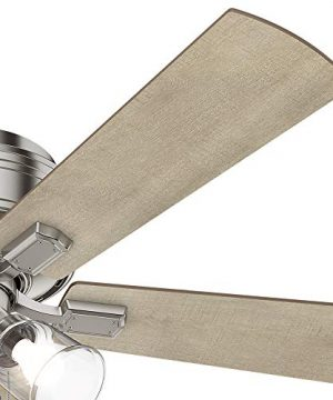 Hunter Fan Company 54209 Hunter 52 Crestfield Brushed Nickel LED Light Ceiling Fan 0 4 300x360
