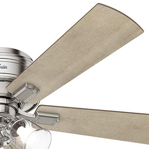 Hunter Fan Company 54209 Hunter 52 Crestfield Brushed Nickel LED Light Ceiling Fan 0 4