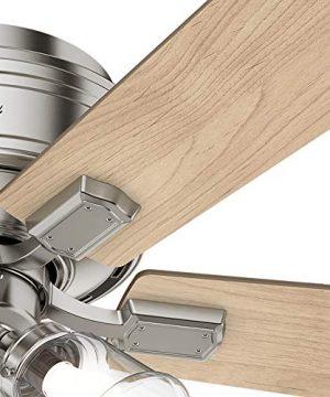 Hunter Fan Company 54209 Hunter 52 Crestfield Brushed Nickel LED Light Ceiling Fan 0 5 300x360