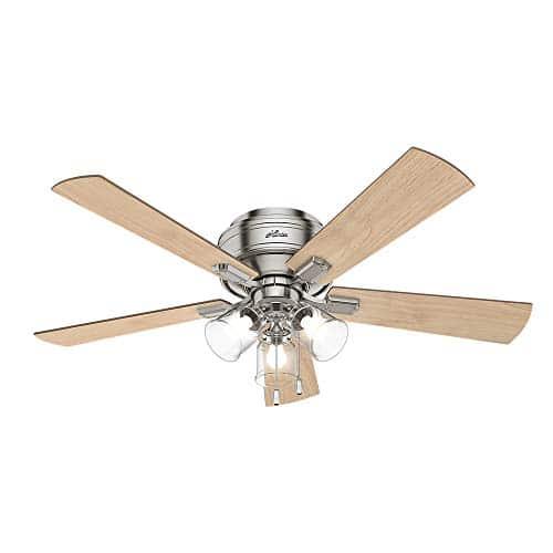 Hunter Fan Company 54209 Hunter 52 Crestfield Brushed Nickel LED Light Ceiling Fan 0