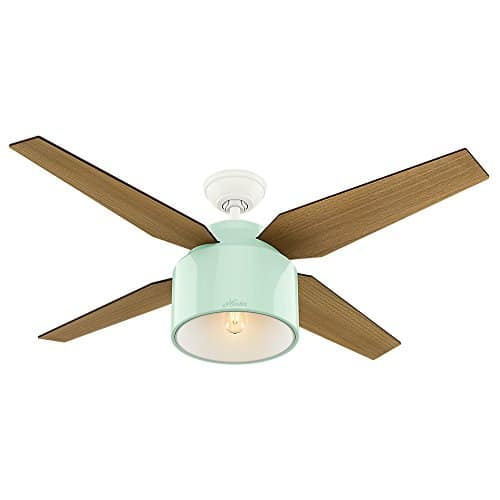 Hunter Fan Company 59258 Hunter 52 Cranbrook Mint Ceiling Fan With Light And Remote 0 0