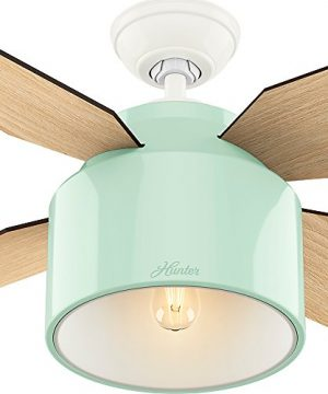 Hunter Fan Company 59258 Hunter 52 Cranbrook Mint Ceiling Fan With Light And Remote 0 4 300x360