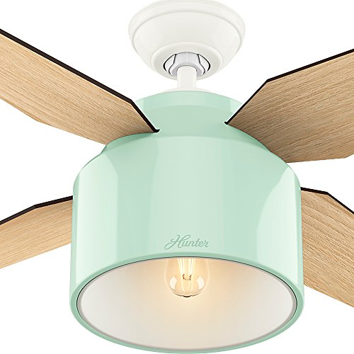 Hunter Fan Company 59258 Hunter 52 Cranbrook Mint Ceiling Fan With Light And Remote 0 4