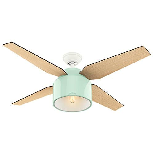 Hunter Fan Company 59258 Hunter 52 Cranbrook Mint Ceiling Fan With Light And Remote 0