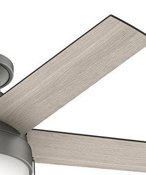 Hunter Fan Company 59270 Hunter 46 Anslee Low Profile Matte Silver Ceiling Fan With Light 0 1 300x360
