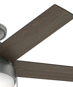 Hunter Fan Company 59270 Hunter 46 Anslee Low Profile Matte Silver Ceiling Fan With Light 0 2 300x360