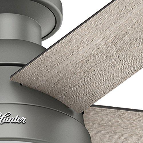 Hunter Fan Company 59270 Hunter 46 Anslee Low Profile Matte Silver Ceiling Fan With Light 0 3