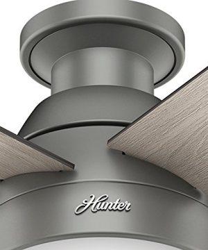 Hunter Fan Company 59270 Hunter 46 Anslee Low Profile Matte Silver Ceiling Fan With Light 0 5 300x360