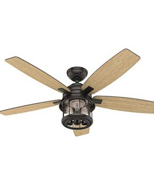 Hunter Fan Company 59420 Hunter 52 Coral Bay Noble Bronze LED Light And Handheld Remote Ceiling Fan 0 0 300x360