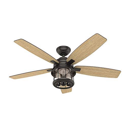 Hunter Fan Company 59420 Hunter 52 Coral Bay Noble Bronze LED Light And Handheld Remote Ceiling Fan 0 0