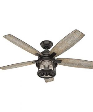 Hunter Fan Company 59420 Hunter 52 Coral Bay Noble Bronze LED Light And Handheld Remote Ceiling Fan 0 300x360