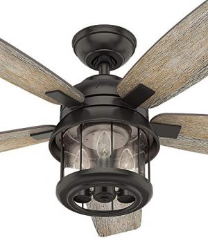Hunter Fan Company 59420 Hunter 52 Coral Bay Noble Bronze LED Light And Handheld Remote Ceiling Fan 0 4 300x360