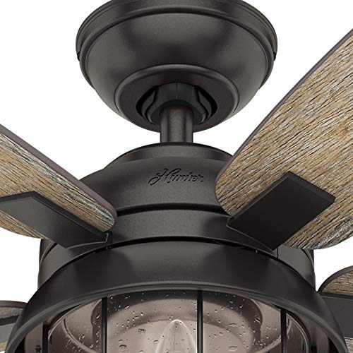 Hunter Fan Company 59420 Hunter 52 Coral Bay Noble Bronze LED Light And Handheld Remote Ceiling Fan 0 5