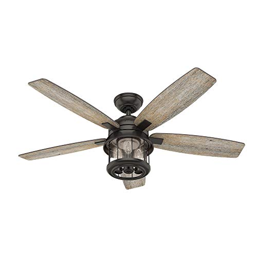 Hunter Fan Company 59420 Hunter 52 Coral Bay Noble Bronze LED Light And Handheld Remote Ceiling Fan 0