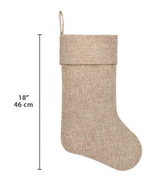 Ivenf Burlap Personalized Christmas Stockings 3 Pack 0 0 300x360