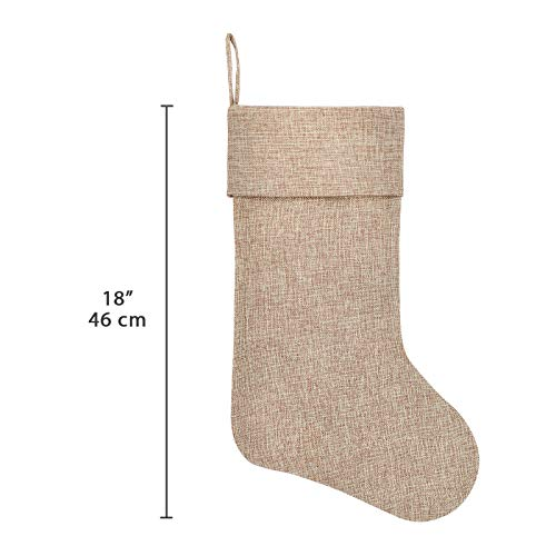 Ivenf Burlap Personalized Christmas Stockings 3 Pack 0 0