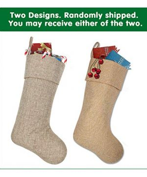 Ivenf Burlap Personalized Christmas Stockings 3 Pack 0 1 300x360