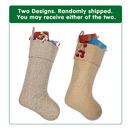 Ivenf Burlap Personalized Christmas Stockings 3 Pack 0 1