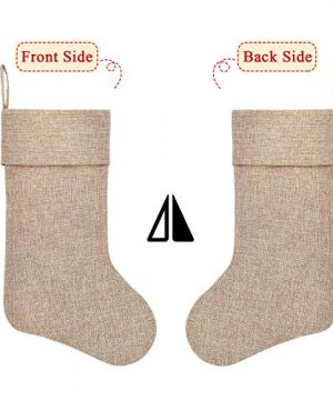 Ivenf Burlap Personalized Christmas Stockings 3 Pack 0 2 300x360