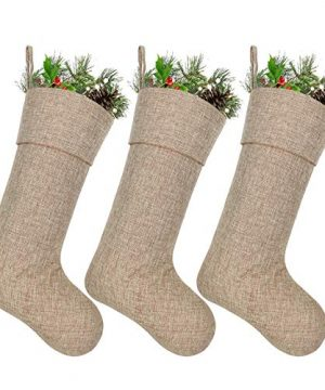 Ivenf Burlap Personalized Christmas Stockings 3 Pack 0 300x360