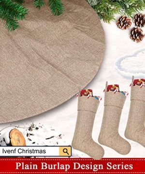 Ivenf Burlap Personalized Christmas Stockings 3 Pack 0 5 300x360