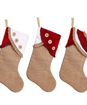 Ivenf Christmas Stockings 3 Pack 18 Inch Large Original Burlap Handcraft Stockings With Tassel For Family Holiday Xmas Party Decorations 0 0 300x360