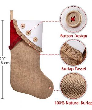 Ivenf Christmas Stockings 3 Pack 18 Inch Large Original Burlap Handcraft Stockings With Tassel For Family Holiday Xmas Party Decorations 0 1 300x360