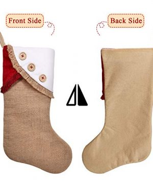 Ivenf Christmas Stockings 3 Pack 18 Inch Large Original Burlap Handcraft Stockings With Tassel For Family Holiday Xmas Party Decorations 0 2 300x360