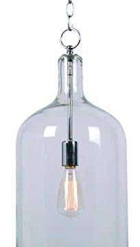 Kenroy Home 91830CLR Capri Pendant Light Clear Glass Chrome 0 204x360
