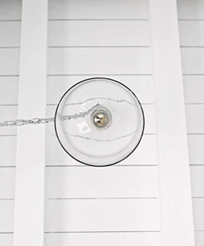 Kenroy Home 91830CLR Capri Pendant Light Clear Glass Chrome 0 5