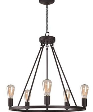 Kenroy Home Hixon 5 Light Chandelier 245 315 Inch Height 235 Inch Width Graphite 0 300x360