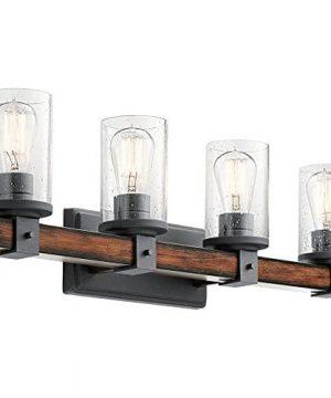 Kichler 4 Light Barrington 9 In Distressed Black And Wood Cylinder Vanity Light 0 300x360