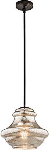 Kichler 42044OZMER Everly Pendant 1 Light Olde Bronze 0