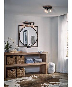 Kichler Lighting 3 Light Barrington Distressed Black And Wood Bathroom Vanity Light 0 1 300x360