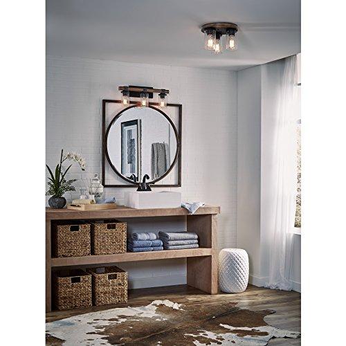 Kichler Lighting 3 Light Barrington Distressed Black And Wood Bathroom Vanity Light 0 1
