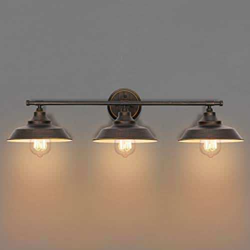 KingSo Bathroom Vanity Light 3 Light Wall Sconce Fixture Industrial Indoor Wall Mount Lamp Shade For Bathroom Kitchen Living Room Workshop Cafe 0