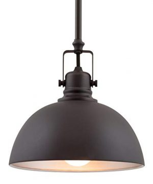 Kira Home Belle 9 Contemporary Industrial 1 Light Pendant Light Adjustable Length Shade Swivel Joint Oil Rubbed Bronze Finish 0 300x360