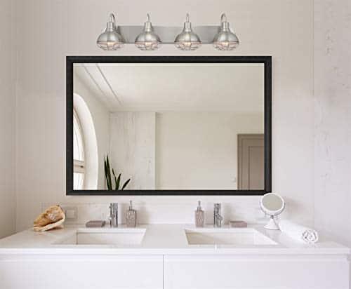 Kira Home Liberty 36 4 Light Modern Industrial VanityBathroom Light Brushed Nickel Finish 0 0