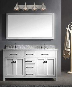 Kira Home Liberty 36 4 Light Modern Industrial VanityBathroom Light Brushed Nickel Finish 0 1 300x360