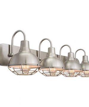 Kira Home Liberty 36 4 Light Modern Industrial VanityBathroom Light Brushed Nickel Finish 0 2 300x360