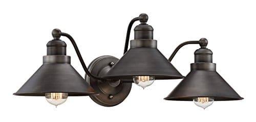 Kira Home Welton 255 Modern Industrial 3 Light VanityBathroom Light Brushed Dark Industrial Bronze Finish 0 0