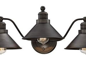 Kira Home Welton 255 Modern Industrial 3 Light VanityBathroom Light Brushed Dark Industrial Bronze Finish 0 300x230