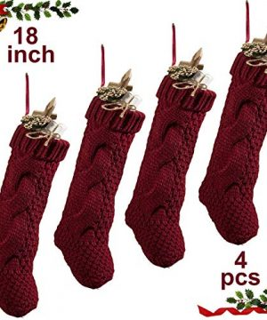 Komotu Pack 418 Unique Burgundy Knit Christmas Stockings 0 300x360
