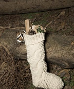 Kunyida Pack 418 Unique Ivory White Knit Christmas Stockings 0 3 300x360