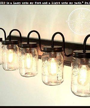 LAMP Goods Mason JAR Bathroom Vanity 5 Light Wide Mouth Jars 0 0 300x360