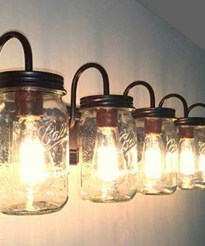 LAMP Goods Mason JAR Bathroom Vanity 5 Light Wide Mouth Jars 0 1 300x360