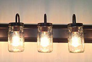 LAMP Goods Mason JAR Bathroom Vanity 5 Light Wide Mouth Jars 0 2 300x202