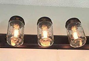 LAMP Goods Mason JAR Bathroom Vanity 5 Light Wide Mouth Jars 0 3 300x208